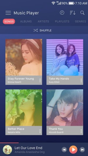 Android Music player Screen 11