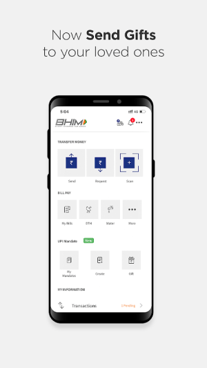 Android BHIM - MAKING INDIA CASHLESS Screen 2