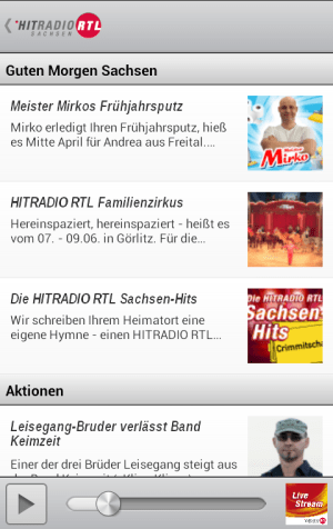 Android HITRADIO RTL Screen 1