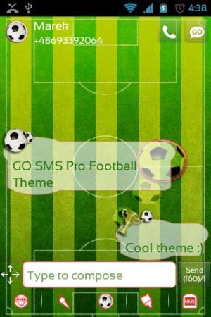 GO SMS Pro Football Theme 2.0 Screen 1
