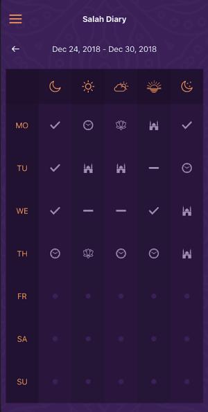 Salah Diary 1.4.0 Screen 1