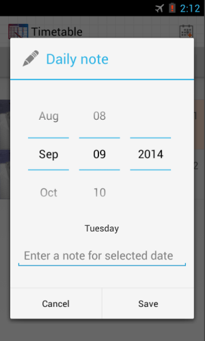 Android Timetable Screen 13