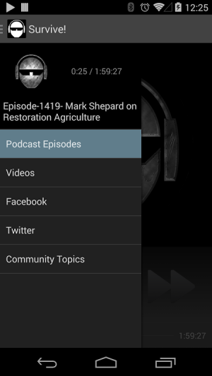 The Survival Podcast 4.2.5 Screen 1
