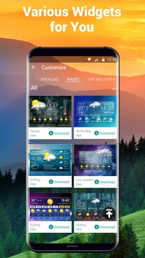 Android Local Weather Report Widget Screen 2