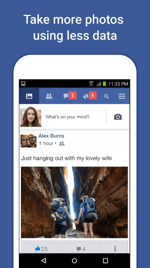 Facebook Lite 153.0.0.7.129 Screen 1