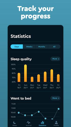 Sleep Cycle: Sleep analysis & Smart alarm clock 3.9.1.4456-release Screen 1