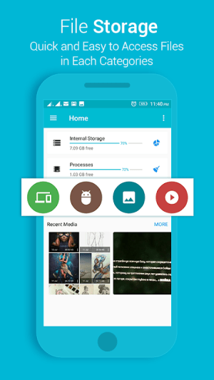 Android File Explorer Screen 1