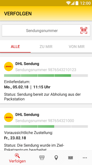 DHL Paket 2.25.1 Screen 14