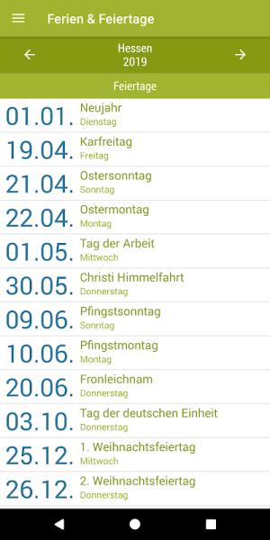Deutsche Feiertage & Ferien 37.0 Screen 14