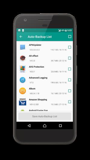 Android dev.gautam.appsbackup Screen 7