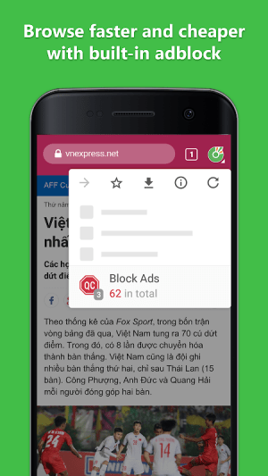 Cốc Cốc Browser 83.0.176 Screen 9