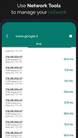 Android NetX Network Tools Screen 1
