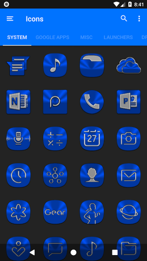 Blue Icon Pack ✨Free✨ 3.8 Screen 13