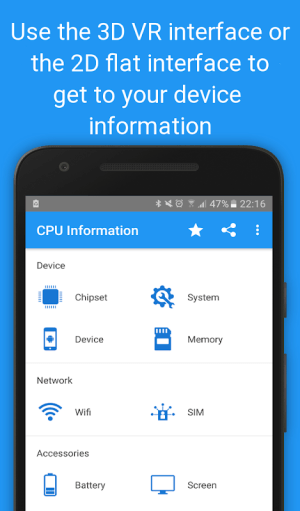 CPU Information Pro : View your Device Info in 3D 4.3.2-pro Screen 3