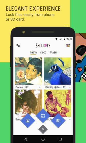 Android Skullock Photo vault: Lock private photos & videos Screen 3