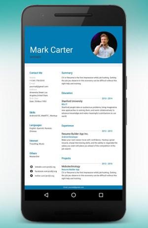 CV Maker Resume Builder PDF Template Format Editor 9.1.18.pro Screen 13