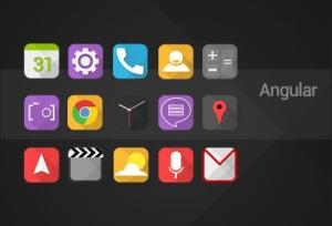 Android Angular - Icon pack Screen 1