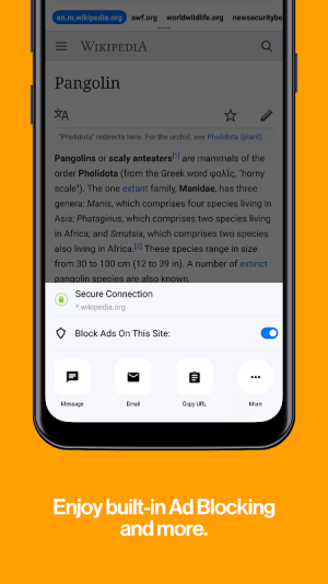 Android Cake Web Browser—Fast, Private, Ad blocker, Swipe Screen 3