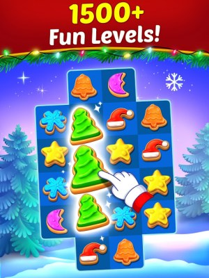 Christmas Cookie - Santa Claus's Match 3 Adventure 3.1.0 Screen 1