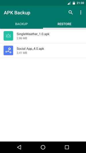APK Backup 2.2 Screen 3