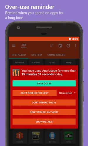 App Usage - Manage/Track Usage 4.81 Screen 3