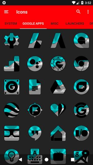 Half Light Cyan Icon Pack Free 2.3 Screen 14