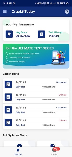 UPSC Test Series | Current Affairs With Flashcards 3.3.0 Screen 5