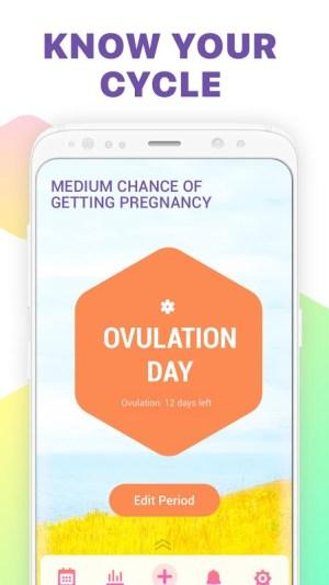 Period Tracker, Ovulation Calendar & Fertility app 1.20 Screen 1
