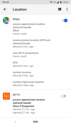 Android App Ops - Permission manager Screen 3