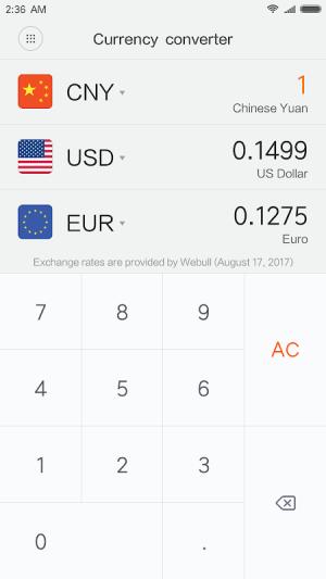 Mi Calculator 10.0.20 Screen 3