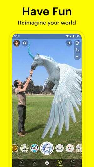Snapchat 11.16.0.42 Screen 1