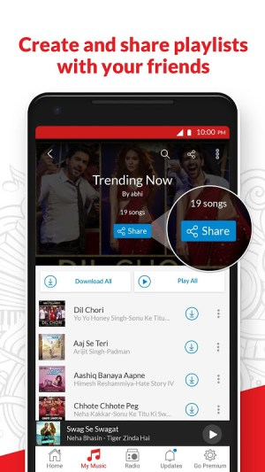 Android Wynk Music - Download & Play Songs, MP3, HelloTune Screen 5
