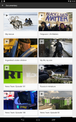 RT News (Russia Today) 3.5.4 Screen 18