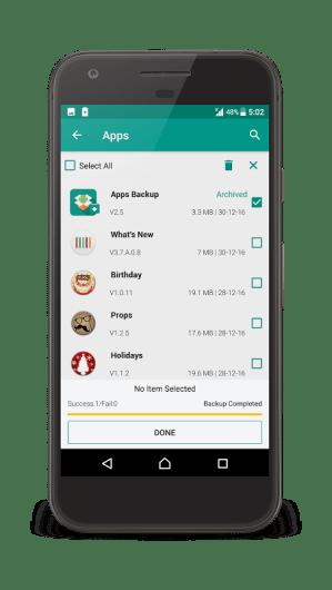 Android dev.gautam.appsbackup Screen 3