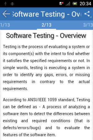 Android Learn Software Testing Screen 1