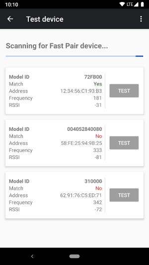 Fast Pair Validator 2.1.276011746 Screen 1
