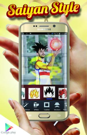Android Super Saiyan Camera Effects Screen 2
