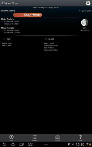 iHunt 750 - Hunting Calls & Solunar Tables 1.3.2 Screen 10