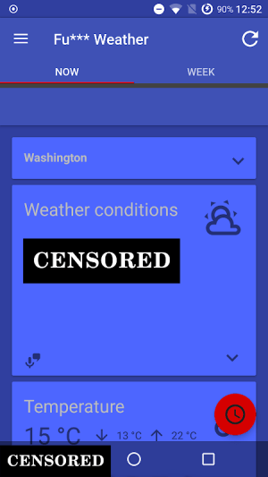 Fu*** Weather (Funny Weather) 11.0.8 (20200502 21:22)-release Screen 2