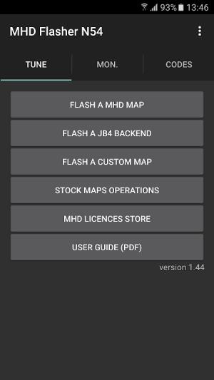MHD Flasher N54 version 1.91 Screen 4