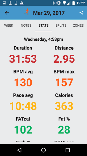 iRunner Run Tracking & Heart Rate Training 4.32 Screen 2