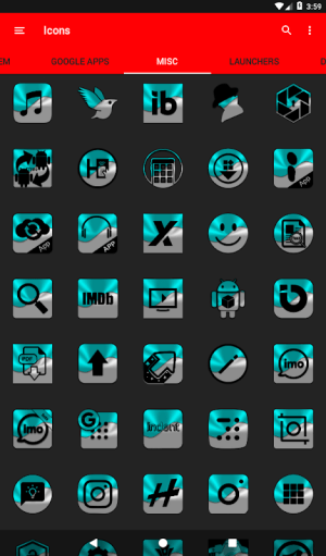 Half Light Cyan Icon Pack Free 2.3 Screen 4
