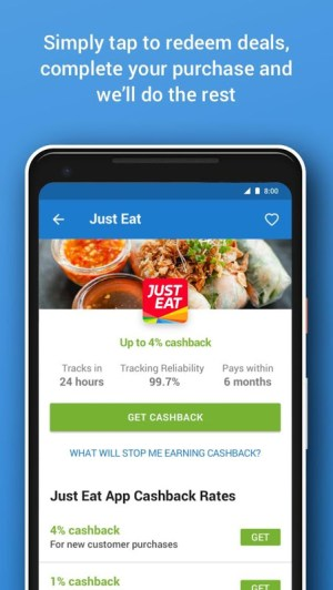 Android Quidco - Cashback, Discounts & Voucher Codes Screen 8