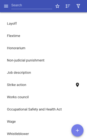 Android Labor law Screen 4
