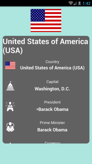 Countries and Capitals 2.2 Screen 4
