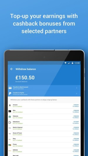 Android Quidco - Cashback, Discounts & Voucher Codes Screen 3