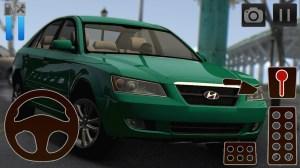 Android Car Driving Simulator Hyundai Screen 1