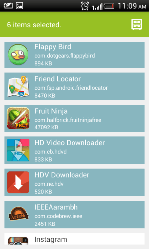 Share apps 1.01 Screen 5