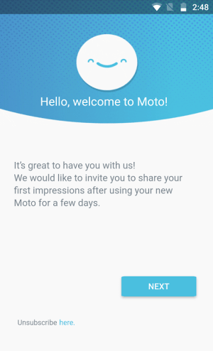 Motorola Notifications 17.9.163 Screen 1