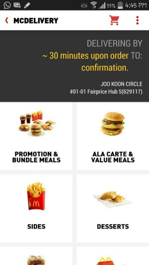 McDelivery Singapore 3.1.84 (SG72) Screen 1